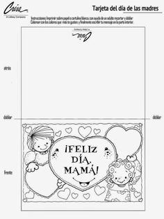 Maestr@s Preescolares Language, Printables, Teaching, School, Cards, Ideas, Mothers Day Drawings, Mom Presents, Mothers Day Cards