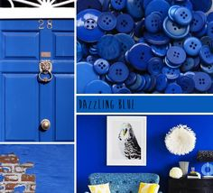 Love the idea of a DAZZLING Blue Door! Pantone Colours 2014 Dazzling Blue