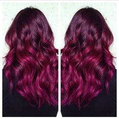 Gorgeous hair color.