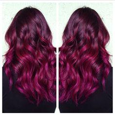 Gorgeous hair color.