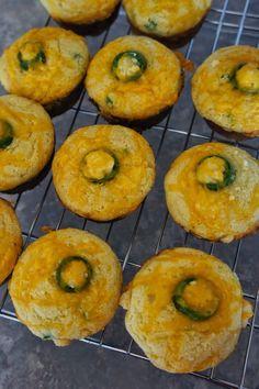 Jalapeño Cheddar Parmesan Cornbread Muffins: Savory Sweet and ...