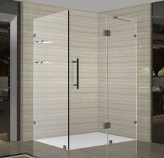 "Aston SEN992-4030-10 Avalux GS 40"" Wide x 30"" Deep x 72"" High Frameless Hinged S Oil Rubbed Bronze Showers Shower Enclosures Hinged"