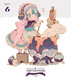 Foto from The Abyss Cartoon Kunst, Anime Kunst, Cartoon Art, Anime Art, Art Et Illustration, Character Illustration, Anime Chibi, Game Character, Character Concept