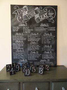 Chalkboard for dessert table menu | @Danielle Christian I'm going to need your handwriting on this :)