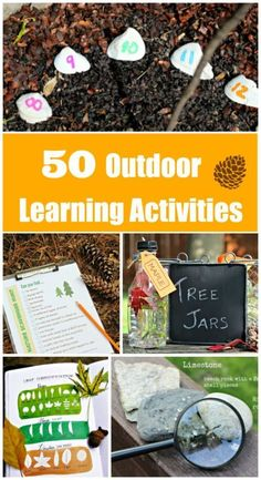 EASY Outdoor Activities for preschool & elementary kids that can be done year-round -- summer, fall winter & spring!  Perfect for a DIY Nature unit study -- kids can learn about nature, play games outside, and explore the park or backyard!