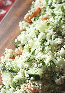 Raw Cauliflower Tabbouleh