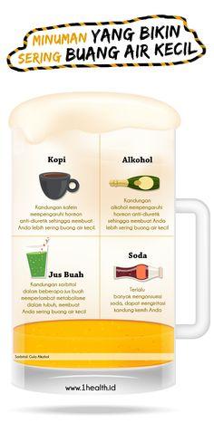 INFOGRAFIS: Minuman Penyebab Sering Buang Air Kecil - 1Health.ID