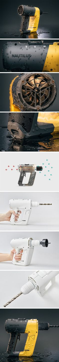 A Small Power Tool That's Packing a Big Punch - Francyne Brill Form Design, 3d Design, Design Elements, Yanko Design, Techno, Industrial Design Sketch, Design Language, Motion Design, Design Reference