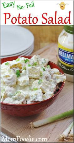 {easy potato salad}… wash, peel, cube lbs potatoes… boil in lightly salt… Potato Salad Recipe Easy, Creamy Potato Salad, Potato Salad With Egg, Potato Recipes, Simple Potato Salad, Healthy Recipes, Great Recipes, Cooking Recipes, Favorite Recipes