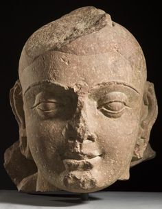 Head of Buddha Shakyamuni . India, Uttar Pradesh, Mathura, 150-200.