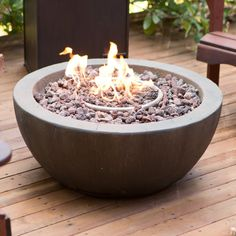 Red Ember Mesa 28 in. Gas Fire Pit Bowl with FREE Cover | from hayneedle.com