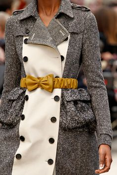 Elastic Bow Belt Burberry Prorsum Fall 2012 Ready-to-Wear Collection Slideshow on Style.com