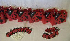 Ladybug Party Pack - Centerpiece, Favor Bags, etc - 27 pieces via Etsy