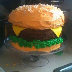 My husbands birthday cake! -he likes cheeseburgers :)