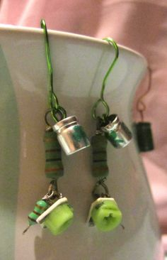 Green Goddess Electrifying Earrings by SoBayBaubles on Etsy, $8.95