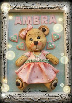 Teddy bear polymer clay fimo