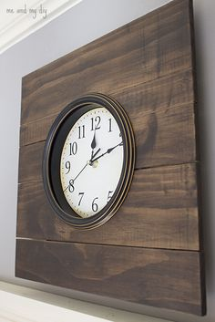 Looking for some fabulous Pottery Barn DIY Project? Well check out our Pottery Barn Knock-off Series Six and prepare to be amazed! Wall Clock Pottery Barn, Home Decor Colors, Diy Home Decor, Pottery Barn Hacks, Knock Off Decor, Small Clock, Farmhouse Frames, Bois Diy, Kitchen Wall Clocks