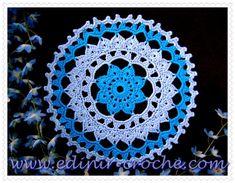 CROCHE COM RECEITAS: Toalhinha de croche modelo bicolor