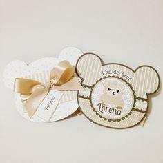 Convite para chá de bebê / chá de fraldas personalizado. Confeccionado em papel 180g Podemos elaborar outros modelos de acordo com preferência. R$ 6,50