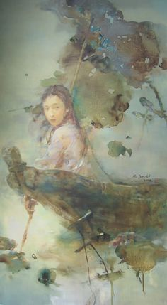 """The Chase - Hu Jundi - One of China's most important events is the passing into Autumn. The exact moment is captured beautifully and dramatically in """"The Chase""""."""