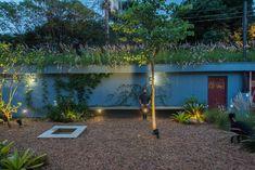Casa Azul   Galeria da Arquitetura Lava, Patio, Interior Exterior, Aquarium, Green, Home, Red Cabinets, Contemporary Gardens, Small Vases