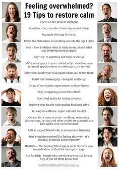 Feeling overwhelmed? 19 Tips to Restore Calm
