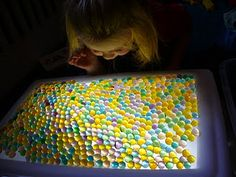 Using waterbeads as a sensory play.  Be careful with children who tend to put things in their mouths.