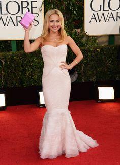 Hayden Panettiere wins best dressed in my book. Golden Globes 2013