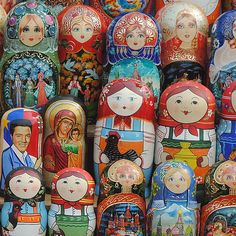 Russian dolls - I have developed a fondness for these. I guess because I have all daughters and granddaughters!