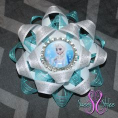 Sassy Sunflower Frozen Elsa Hair Bow Accessory by SassyStylesbySS