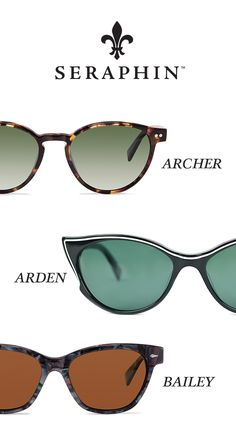 Seraphin is re-defining eyewear by adapting the finest elements of luxury eyewear from the past into fresh, contemporary interpretations intended to please the eyewear aspirant with a keen intellectual perception of fashion. Seraphin, Archer, Eyeglasses, Eyewear, Mirrored Sunglasses, Accessories, Sterling Archer, Glasses, Sunglasses