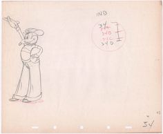 1936 Mortimer Mouse KEY production animation cel drawing Disney Mickeys Rival by CharlesScottGallery on Etsy
