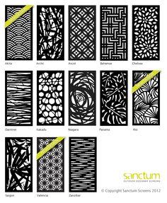 Garden Screens Or Fencing. Laser Cut Designs For Gates