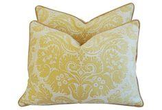 Italian Fortuny Demedici Pillows, Pair