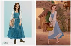 "See Emma Watson's Belle Costume for ""Beauty and the Beast"""