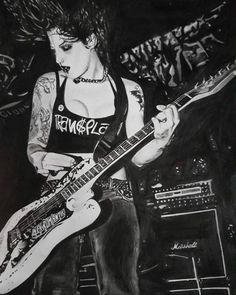 Realistic drawing by Paty Oliveira Brody Dalle, Realistic Drawings, Photo And Video, Instagram