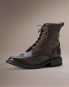 Frye: James Lug Wingtip Boot