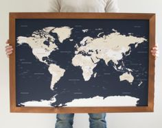 49 best map images on pinterest world maps 3d presentation and world map world map wall art husband gift 1st anniversary gift newlywed gift 5th anniversary gift push pin map world map push pin gumiabroncs Gallery