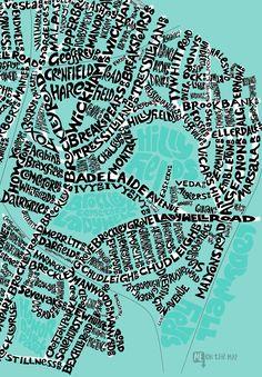 a2077fcc48f2 Live in SE4  Here s a detail of our hand lettered typographic map
