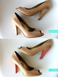Refurbish old heels. Great idea! #upcycle #shoes by randi