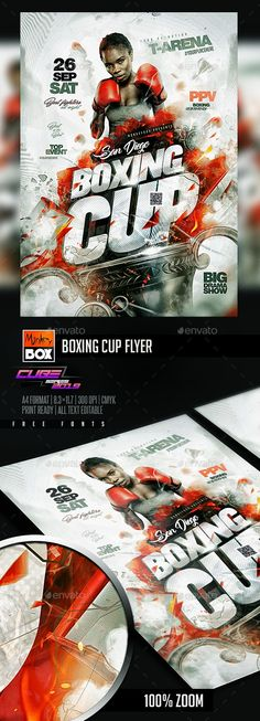 Sports Flyer, Flyer Template, Fonts, Templates, Flyers, Boxing, Free, Party, Designer Fonts