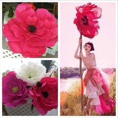 Fushia flower made to match girl with flower