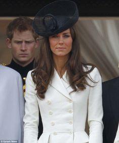 kate middleton ivory suit with black hat  | Duchess of Cambridge Kate Middleton cracks up at Prince Harry's jokes ...