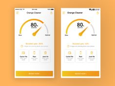 Orange Cleaner app design concept by Shourav Chowdhury