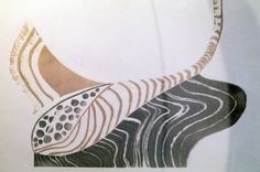 Etching... returning from the shore feels like stoneware in print by Susan Ford Collins