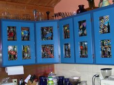 Beautiful way to up-cyle your kitchen cupboards