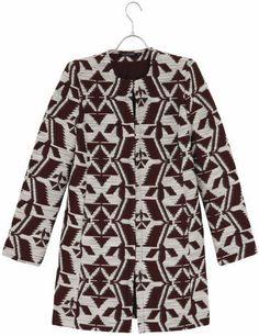 manteau sans col monoprix