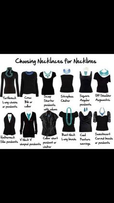 Chose The Right Necklace! Match Your Neckline.