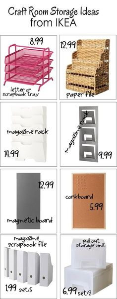 #papercraft #storage #crafting See what fun things IKEA has for Craft Room Organizing
