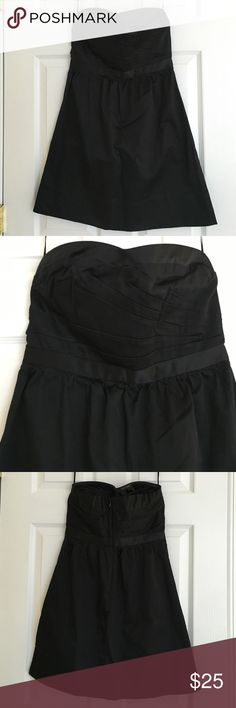 American Eagle black strapless dress Love the top detail on this dress! NWT. 97% cotton, 3% spandex. 28 inches long. American Eagle Outfitters Dresses Strapless